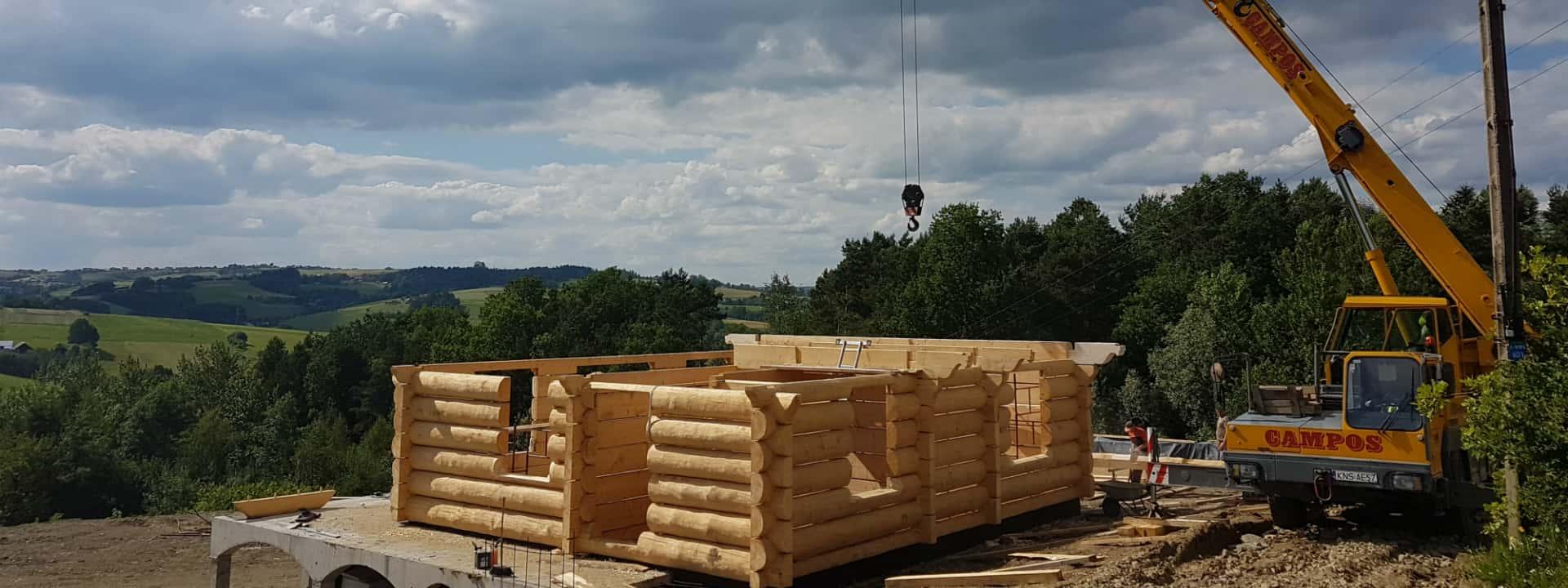 Liebherr LTM 1025 Budowa domku z drewna