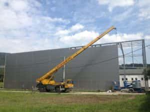 Liebherr LTM 1025 Budowa hali magazynowej