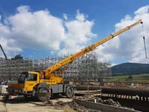 Liebherr LTM 1025 Budowa mostu